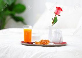 Romantisches Bett