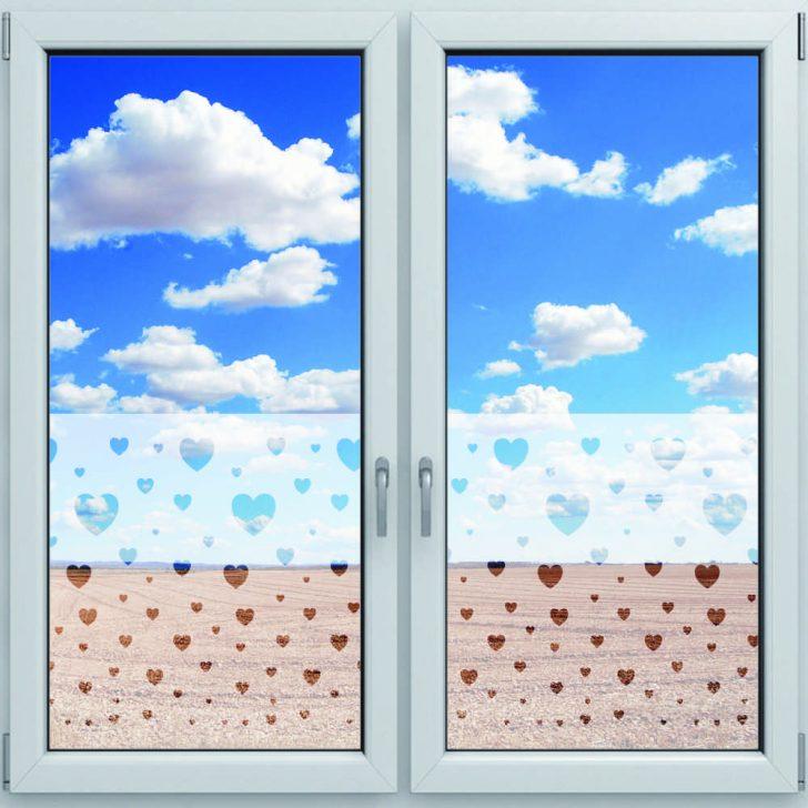 Medium Size of Fensterdekor Sichtschutzfolie Fr Fenster Motiv Herzen 1200 500mm Regale Für Keller Rollo Schüco Online Sonnenschutz Plissee Sicherheitsbeschläge Nachrüsten Fenster Sichtschutzfolie Für Fenster