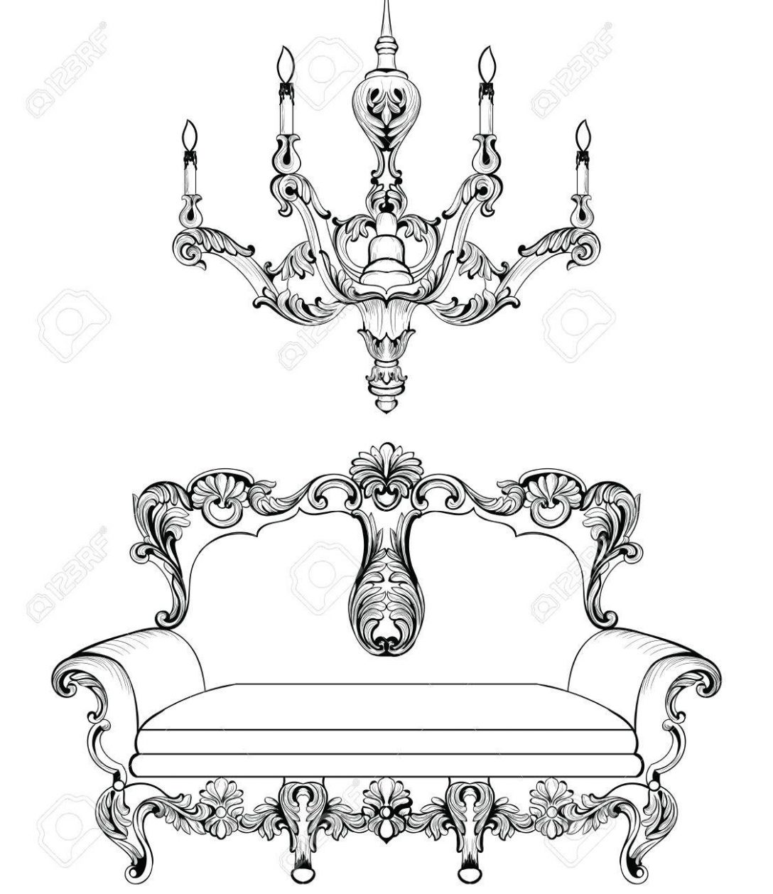 Large Size of Barock Sofa Exquisite Fabulous Imperial Und Kronleuchter Graviert Bullfrog Konfigurator Machalke Günstig Kaufen Xora Bunt 3er Grau Leinen Mit Abnehmbaren Sofa Barock Sofa