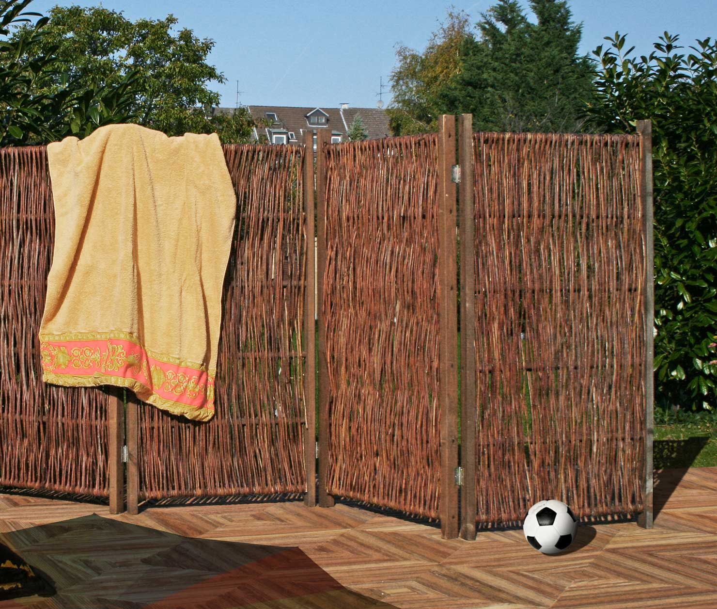 Full Size of Paravent Garten Wetterfest Holz Obi Ikea Bambus Hornbach Standfest Toom Metall Aus Weiden 240 120 Cm Holzundgartende Zaun Sichtschutz Wpc Schallschutz Garten Paravent Garten