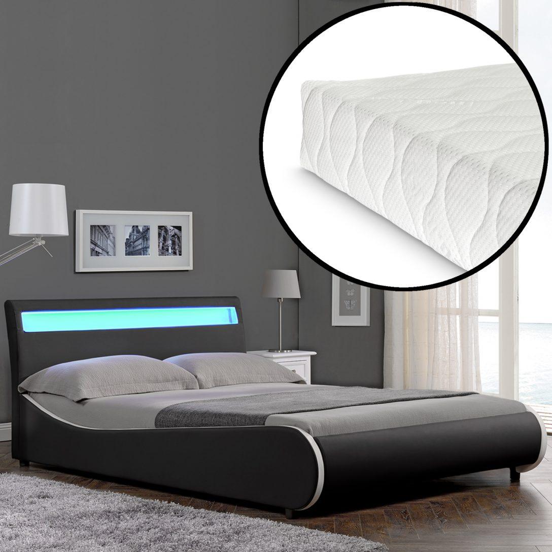 Large Size of Corium Led Modernes Polsterbett Matratze 140x200cm Kunst Leder Schlafzimmer Betten Bett Ohne Füße Joop Bettwäsche Sprüche Stabiles Rausfallschutz Bett Modernes Bett