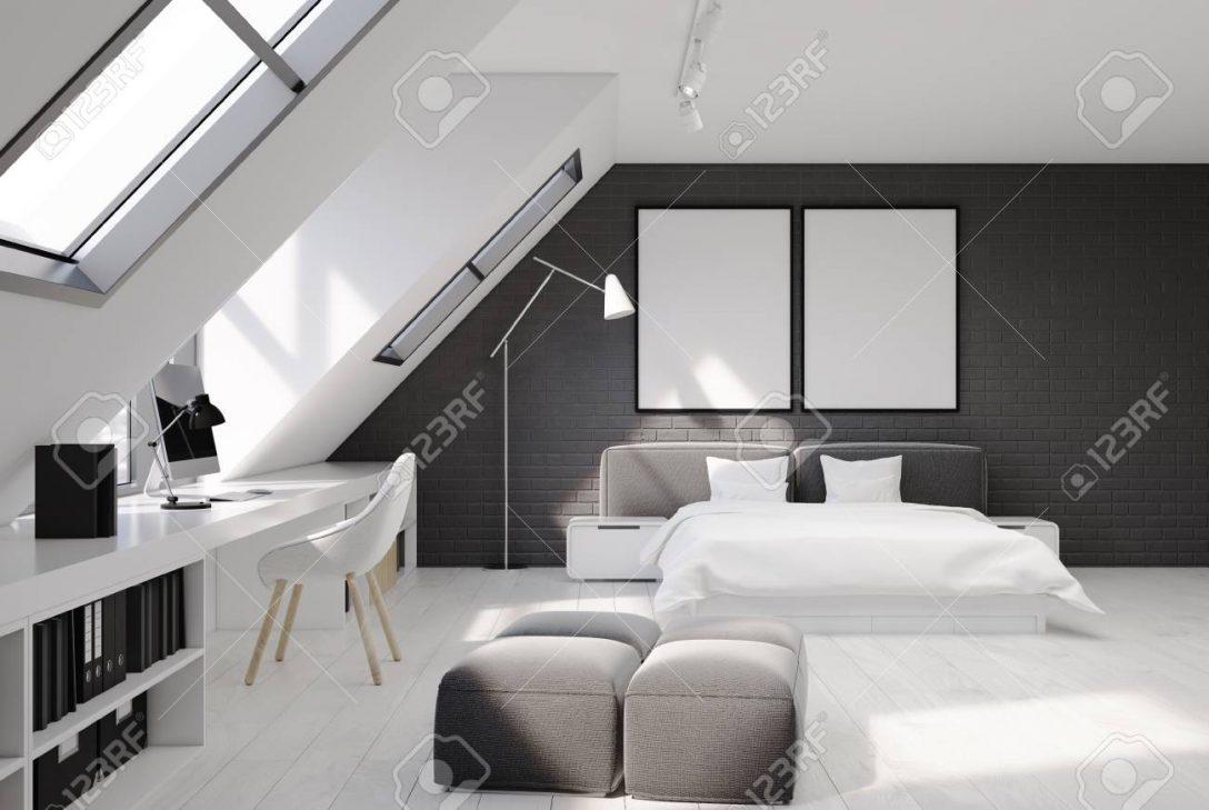 Large Size of Graues Bett Wandfarbe Bettlaken Samtsofa Waschen Ikea Kombinieren Dunkel 140x200 180x200 Schlafzimmerinnenraum Mit Weien Und Grauen Backsteinmauern Bett Graues Bett