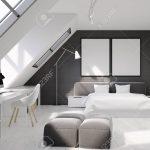 Graues Bett Wandfarbe Bettlaken Samtsofa Waschen Ikea Kombinieren Dunkel 140x200 180x200 Schlafzimmerinnenraum Mit Weien Und Grauen Backsteinmauern Bett Graues Bett