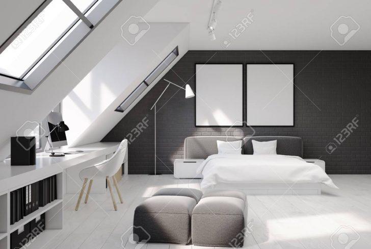 Medium Size of Graues Bett Wandfarbe Bettlaken Samtsofa Waschen Ikea Kombinieren Dunkel 140x200 180x200 Schlafzimmerinnenraum Mit Weien Und Grauen Backsteinmauern Bett Graues Bett