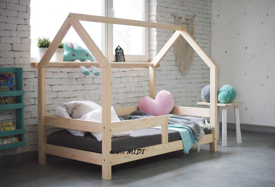 Hausbett Barierra Kinderbett 170 Minimidi Design Bett Breite Mit Hohem Kopfteil 200x200 Weiß Wohnwert Betten Düsseldorf Stauraum Amazon 180x200 Lattenrost