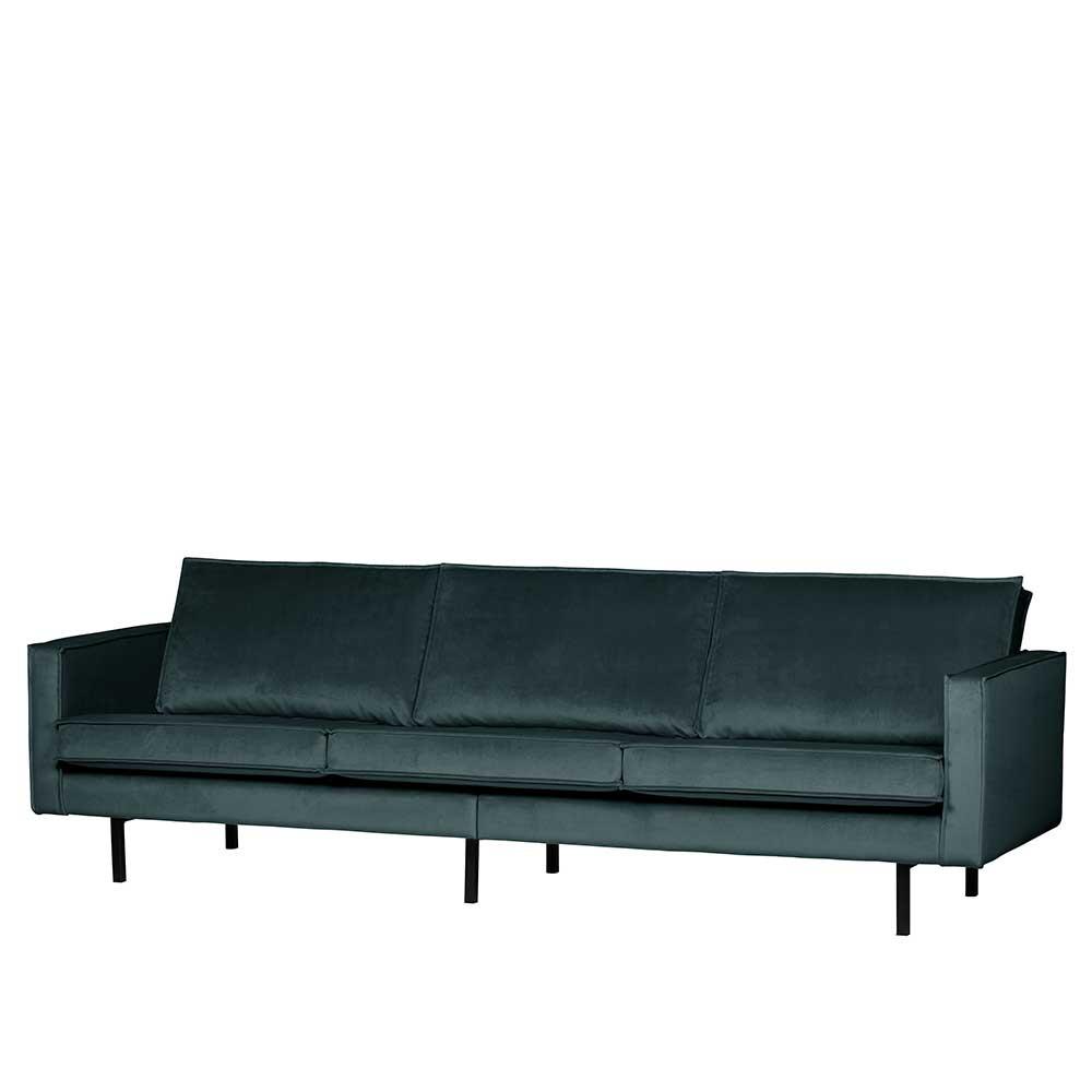 Full Size of Samt 3 Sitzer Couch In Blau Mit 4 Fu Gestell Aus Metall Fledos Sofa 2 Esstisch Günstig Kaufen Regal Tiefe 30 Cm Xxl Türkis Landhaus Grünes Leder Braun Sofa 3 Sitzer Sofa