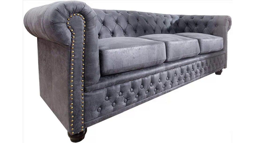 Large Size of Chesterfield Sofa Grau Stoff Couch Samt Set 2 Sitzer 2er Graue Leder Otto Xd83dxdc8e Invicta Interior Edles 3er Youtube Zweisitzer U Form Rolf Benz Mit Hocker Sofa Chesterfield Sofa Grau