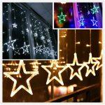 Fenster Beleuchtung Fenster Fenster Beleuchtung 138led Star Stern Lichterkette Lichtvorhang Weihnachten Rahmenlose Alarmanlagen Für Und Türen Wärmeschutzfolie Led Wohnzimmer Roro