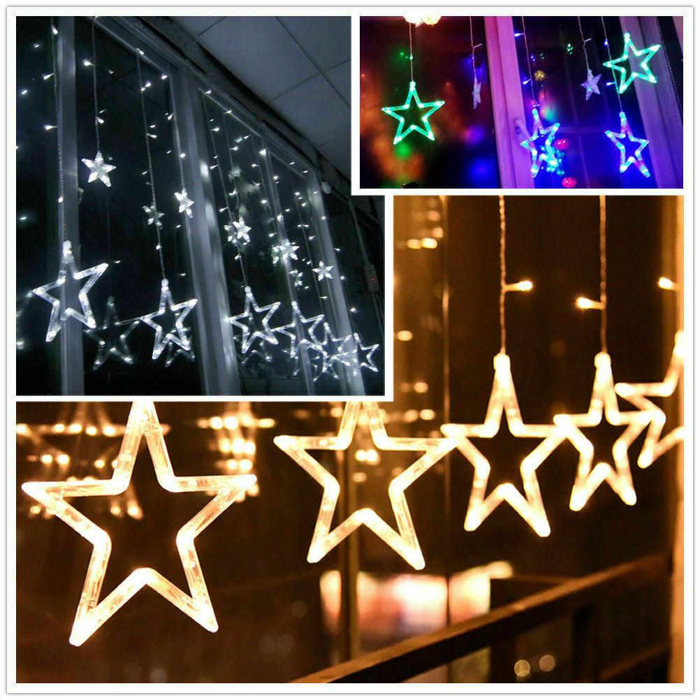 Full Size of Fenster Beleuchtung 138led Star Stern Lichterkette Lichtvorhang Weihnachten Rahmenlose Alarmanlagen Für Und Türen Wärmeschutzfolie Led Wohnzimmer Roro Fenster Fenster Beleuchtung