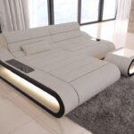 Sofa Mit Beziehen Kosten Lassen Stoff Led Beleuchtung Und Lautsprecher Dreams Couch Concept In L Form Lampen Tür Dusche Verstellbarer Sitztiefe Altes Sofa Sofa Mit Led
