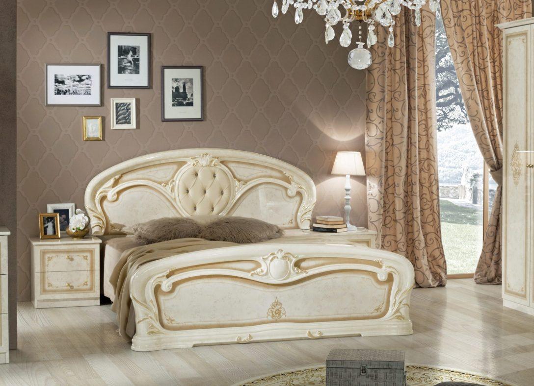 Large Size of Bett Kaufen Günstig Barock Christina In Beige Gold Design Ohne Lattenrost Chr Japanische Betten Mit Unterbett 160x200 Schlafzimmer Set Tatami 140x200 Ruf Bett Bett Kaufen Günstig