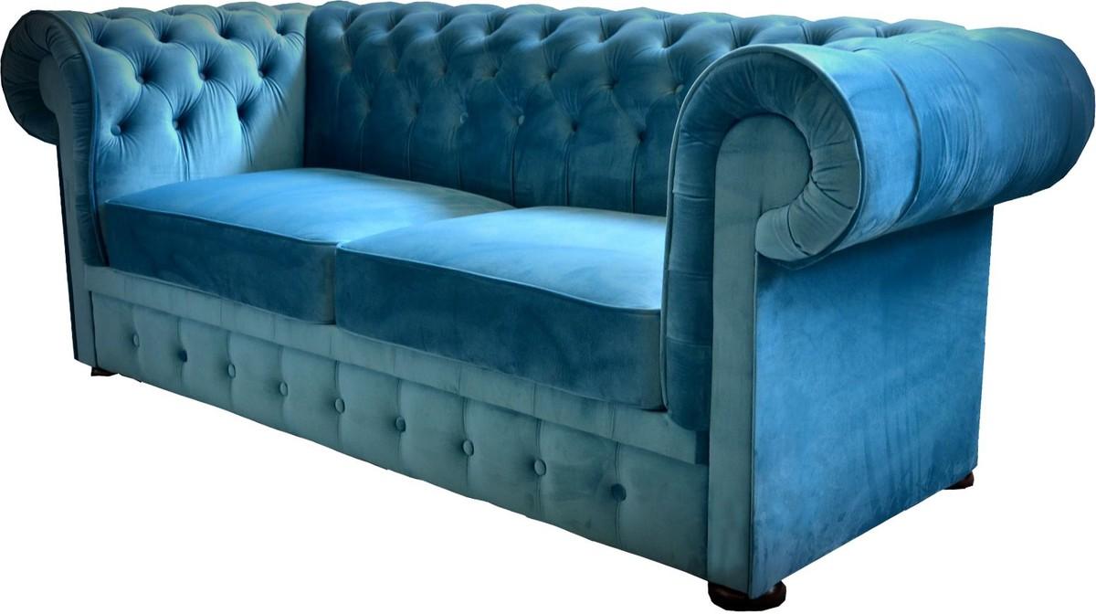 Full Size of Casa Padrino Chesterfield 2er Sofa In Blau 160 90 H 78 Cm Türkis Günstig Mit Holzfüßen Kolonialstil Hussen Für Abnehmbaren Bezug Weiß Grau Patchwork Xxl Sofa Sofa Blau