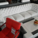 Designer Chesterfield 270 Cm Big Sofa Couch Leder 5 Sitzer Bezug Boxspring Federkern Günstiges Leinen Kunstleder Weiß Lila Walter Knoll Lagerverkauf Sofa Big Sofa Leder