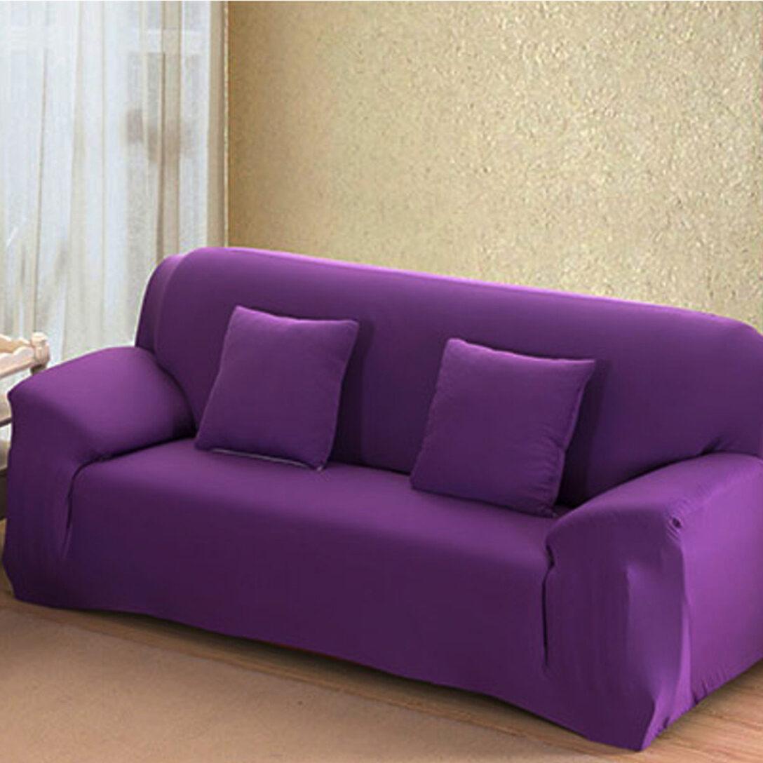 Large Size of Lila 4 Gre Stretch Fit Sofa Cover Couch Einfach Abnehmbare Esszimmer Mit Recamiere 2er Grau Reinigen Kleines Wohnzimmer Breit U Form Xxl Kissen L Sofa Sofa Lila