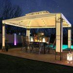 Pavillon Garten Garten Pavillon Garten Led Milano 3x4m Pavillion Solar Real Spielhäuser Sauna Lounge Sessel Rattan Sofa Relaxsessel Aldi Spot Skulpturen Beistelltisch Mini Pool