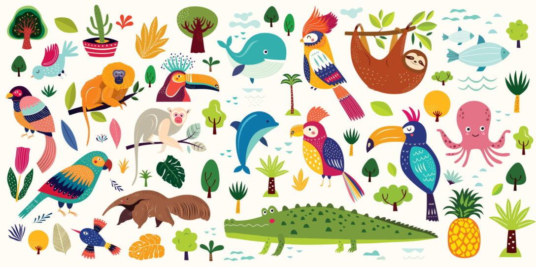 Large Size of Wandtattoo Kinderzimmer Mit Tieren Ber 20 Coole Tiermotive Regale Regal Sofa Weiß Kinderzimmer Wandaufkleber Kinderzimmer