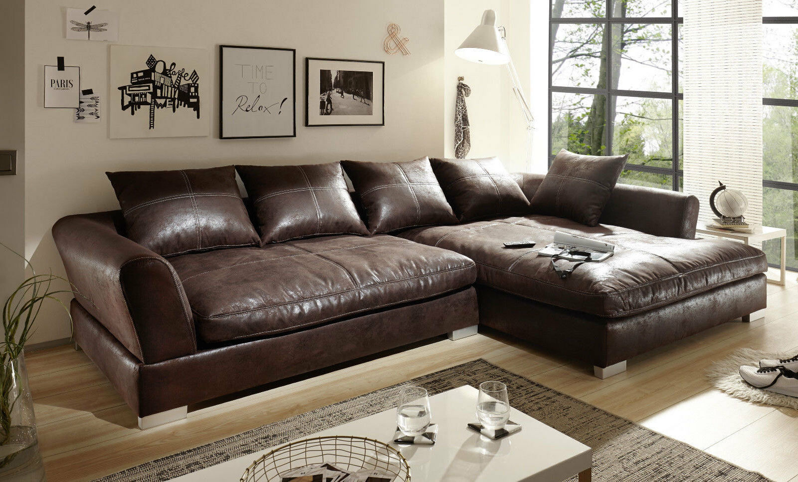 Full Size of Design Couchgarnitur Braun Sofa K Leder Eck Wohnlandschaft L Mit Schlaffunktion Poco Big Petrol Kolonialstil Hay Mags Inhofer 3 Sitzer Relaxfunktion In Form Sofa Big Sofa Braun