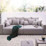 Big Sofa Grau Violetta 310x135 Cm Abgesteppt Mit Kissen Mbel 2 Sitzer Schlaffunktion Esstisch Bezug Ecksofa Ottomane Holzfüßen Modulares Beziehen Wk 3er Sofa Big Sofa Grau