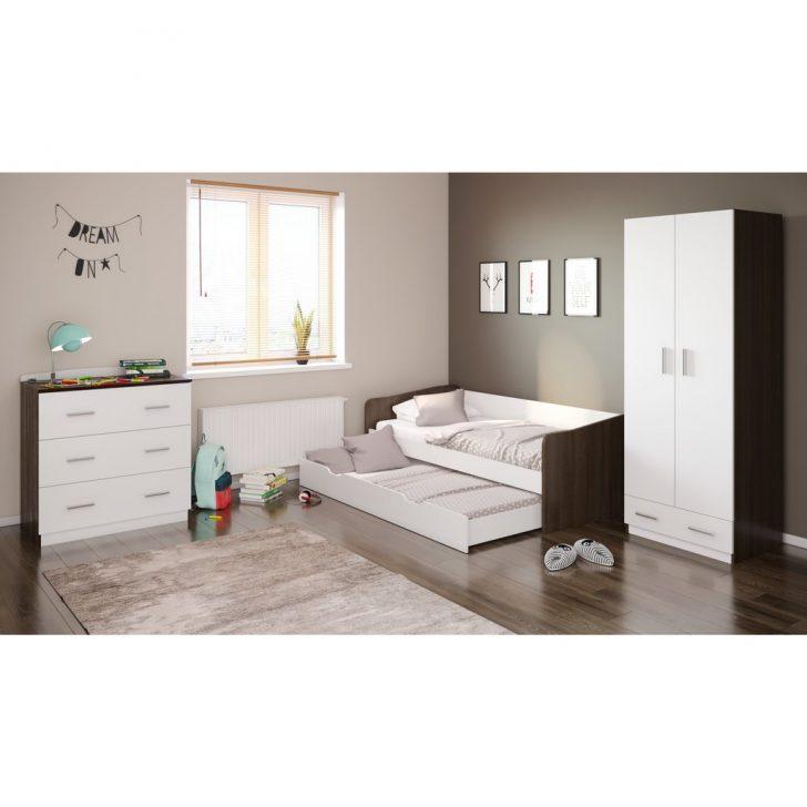 Medium Size of Polini Home Zimmer Kleiderschrank Mit Bett Und Kommode Wei Balinesische Betten Komforthöhe Stauraum 200x200 Kaufen Günstig 100x200 Sitzbank Massiv Poco Bett Bett 190x90