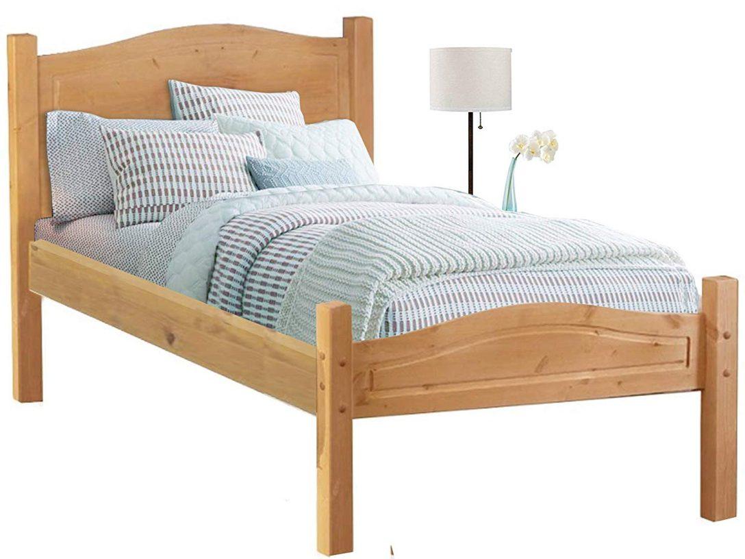 Large Size of Kiefer Bett 90x200 Loft24 Cm Bettgestell Massivholz Einzelbett Mädchen Betten Skandinavisch 200x220 Paletten 140x200 Massiv Günstige 180x200 Weiß Bett Kiefer Bett 90x200