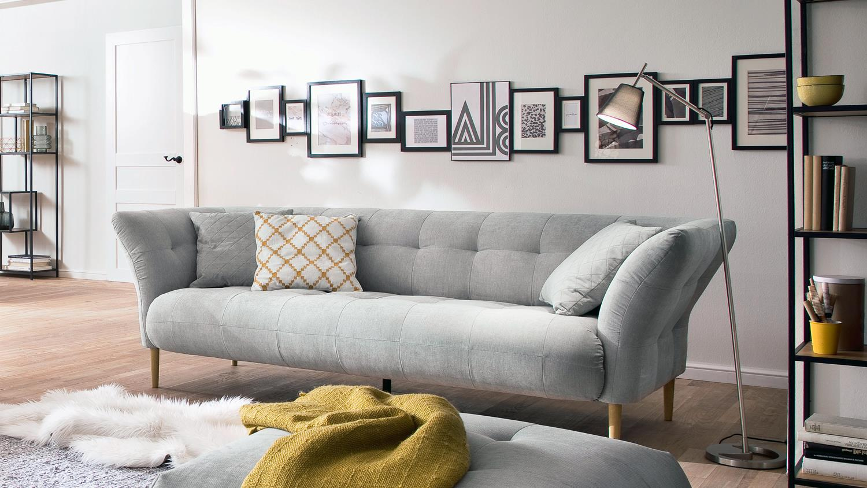 Full Size of 3 Sitzer Big Apple Sofa Couch Polstersofa In Stoff Silber Grau 240 Cm U Form Dreisitzer Federkern Home Affaire Poco Abnehmbarer Bezug Antikes Alternatives Sofa Sofa 3 Sitzer