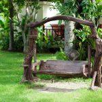 Schaukel Gartenpirat Gartenliege Holz Garten Ohne Betonieren Test Selber Bauen Erwachsene Baby Gartenschaukel Metall Altes Im Grnen Lizenzfreie Fotos Brunnen Garten Schaukel Garten