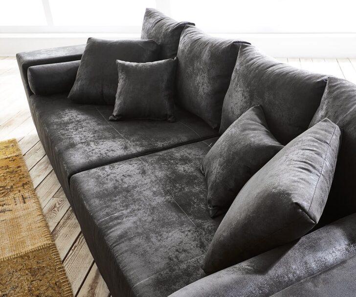 Medium Size of Big Sofa Mit Hocker Bigsofa Marbeya Anthrazit 285x115 Cm Antik Optik Inklusive Garten Ecksofa Recamiere Bett Matratze Und Lattenrost 2 Sitzer Relaxfunktion Sofa Big Sofa Mit Hocker