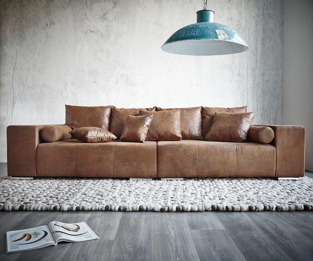 Full Size of Xxl Couch Marbeya Braun 285x115 Cm Antik Optik Mit Kissen Bigsofa 2er Sofa Grau Kolonialstil Bettfunktion Kleines Wohnzimmer überzug Betten Aufbewahrung Sofa Big Sofa Mit Hocker