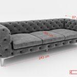 Vienna International Furniture Mega Sofa Kleines Lounge Garten 3 Sitzer Bunt Kissen Cassina Stoff Grau Schlaffunktion Bezug Sofa Sofa Samt