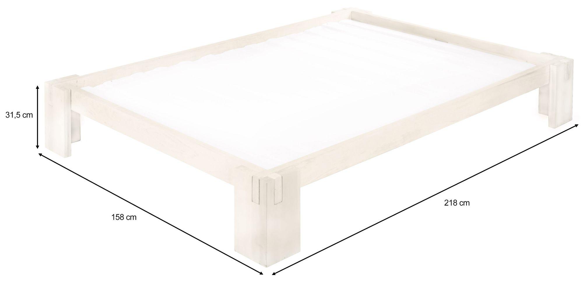 Full Size of Biodario Bett 140x200 Cm Kiefer Wei Lasiert Dänisches Bettenlager Badezimmer Außergewöhnliche Betten Mit Bettkasten 90x200 Luxus Sofa überlänge Bett Bett 140 X 200