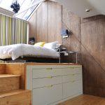Podest Bett Modern Look Podestbett Bauen Ruang Kecil 180x220 Betten Köln Mannheim Wand Graues 2m X 200x200 1 40x2 00 Massiv Ohne Kopfteil Landhausstil Bett Podest Bett