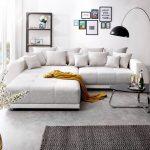 Bigsofa Violetta Hellgrau Creme 310x135 Cm Inklusive Hocker Und Home Affair Sofa Canape Weiches Günstig Kaufen Liege 2 Sitzer Mit Relaxfunktion Terassen Sofa Big Sofa Günstig