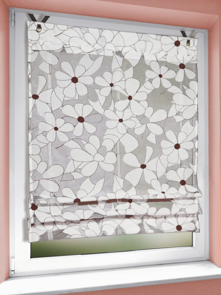Medium Size of Raffrollo Kinderzimmer Senrollo 140x80cm Florales Dessin Gardinen Outlet Küche Regale Regal Weiß Sofa Kinderzimmer Raffrollo Kinderzimmer