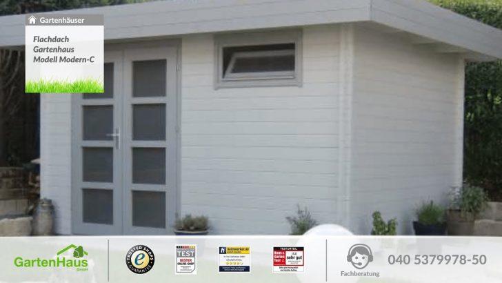 Medium Size of Flachdach Gartenhaus Modell Modern C Youtube Mastleuchten Garten Lounge Möbel Trennwand Pergola Gewächshaus Spielgeräte Für Den Gartenüberdachung Garten Gerätehaus Garten