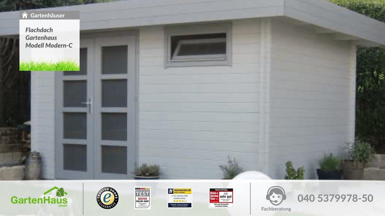 Full Size of Flachdach Gartenhaus Modell Modern C Youtube Mastleuchten Garten Lounge Möbel Trennwand Pergola Gewächshaus Spielgeräte Für Den Gartenüberdachung Garten Gerätehaus Garten