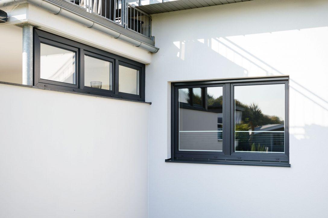Large Size of Kunststoff Fenster Kunststofffenster In Anthrazitgrau Neubau Architektur Garten Einbruchsichere Fliegennetz Verdunkelung Schallschutz Insektenschutz Fenster Kunststoff Fenster