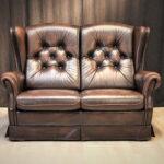 Chesterfield Style Sofa Couch Creme 2 Sitzer Mit Schlaffunktion Polster Sofort Lieferbar Dreisitzer Garnitur 3 Teilig Relaxfunktion Büffelleder Ektorp Big Sofa Sofa Englisch