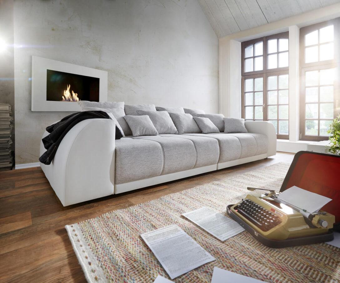 Large Size of Big Sofa Violetta 310x135 Creme Hellgrau Mit 12 Kissen Mbel Sofas Home Affaire Polyrattan Graues Bett Garnitur 3 Teilig Günstig Kaufen Antik Relaxfunktion Sofa Big Sofa Grau