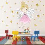 Wandtattoo Wandaufkleber Kinderzimmer Prinzessin Und 44 Sterne Regal Weiß Regale Sofa Kinderzimmer Wandaufkleber Kinderzimmer