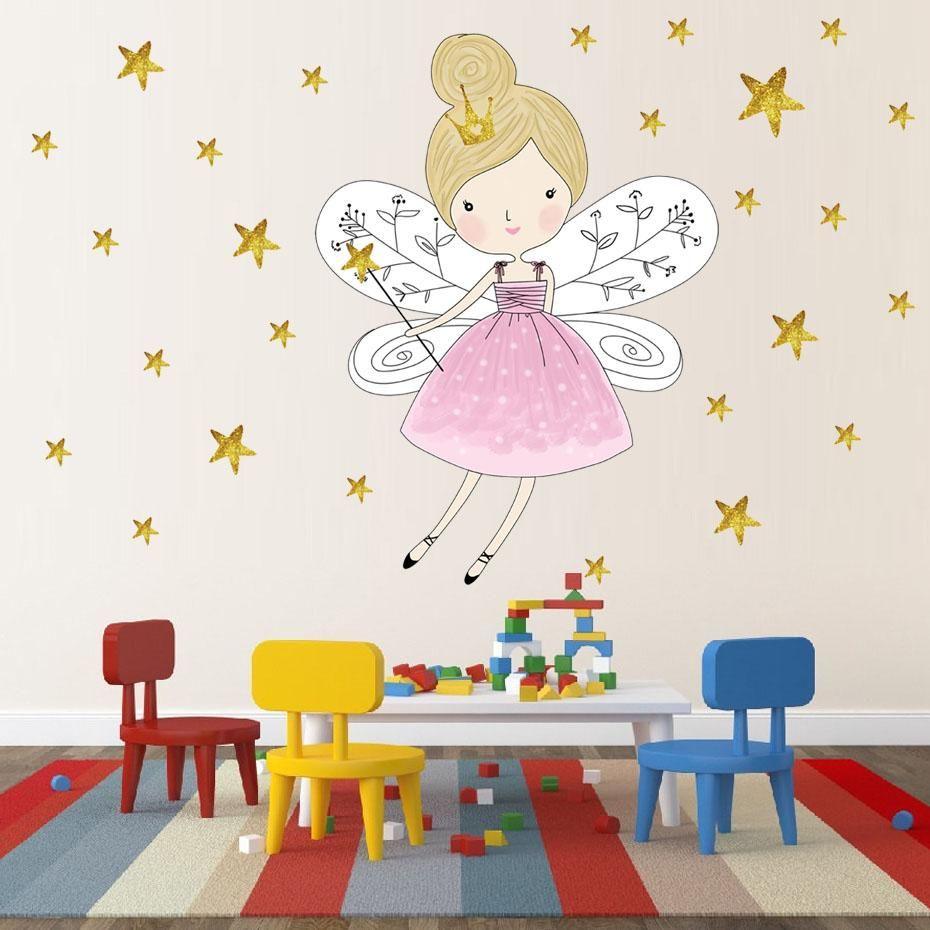 Full Size of Wandtattoo Wandaufkleber Kinderzimmer Prinzessin Und 44 Sterne Regal Weiß Regale Sofa Kinderzimmer Wandaufkleber Kinderzimmer