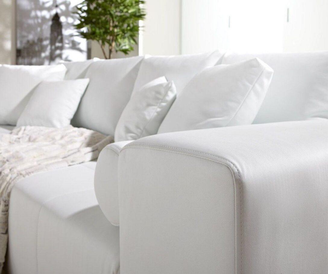 Large Size of Big Sofa Weiß Couch Marbeya Weiss 290x110 Cm Mit Schlaffunktion Stoff Für Esszimmer Reinigen Groß Xxxl 3er Regal Holz Hochglanz Xxl Günstig Metall Sofa Big Sofa Weiß