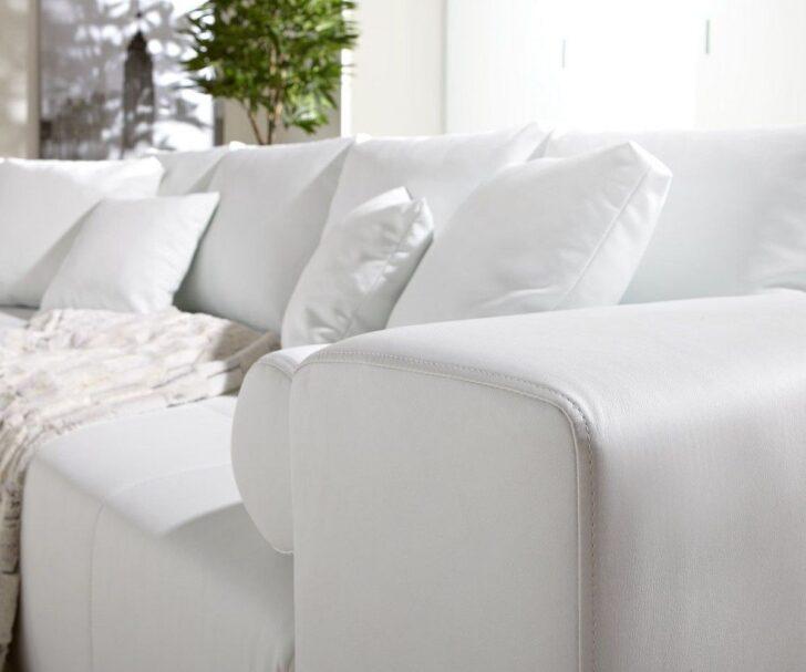 Medium Size of Big Sofa Weiß Couch Marbeya Weiss 290x110 Cm Mit Schlaffunktion Stoff Für Esszimmer Reinigen Groß Xxxl 3er Regal Holz Hochglanz Xxl Günstig Metall Sofa Big Sofa Weiß