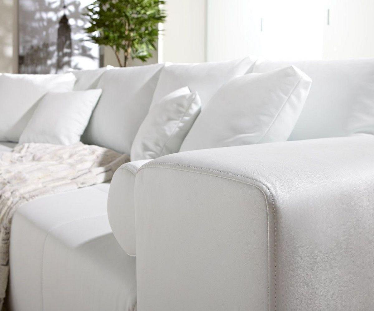 Full Size of Big Sofa Weiß Couch Marbeya Weiss 290x110 Cm Mit Schlaffunktion Stoff Für Esszimmer Reinigen Groß Xxxl 3er Regal Holz Hochglanz Xxl Günstig Metall Sofa Big Sofa Weiß