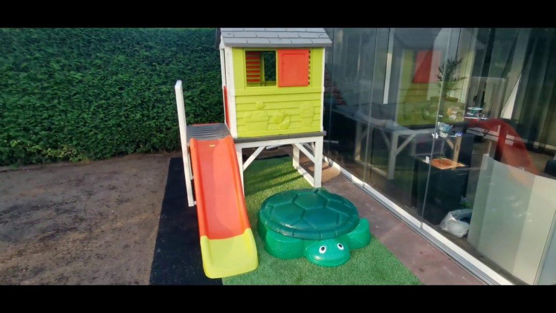 Large Size of Smoby Spielhaus Und Little Tikes Sandkasten Eine Gestaltungsidee Rattan Sofa Garten Sichtschutz Wpc Bewässerungssysteme Test Relaxsessel Aufbewahrungsbox Garten Spielhaus Garten Kunststoff