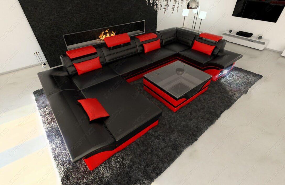 Large Size of Luxus Sofa Design Wohnlandschaft Enzo U Form In Leder Mit Led Beleuchtung Türkis L Schlaffunktion Elektrisch Garnitur 3 Teilig Polyrattan Xxl Groß Grau Tom Sofa Luxus Sofa