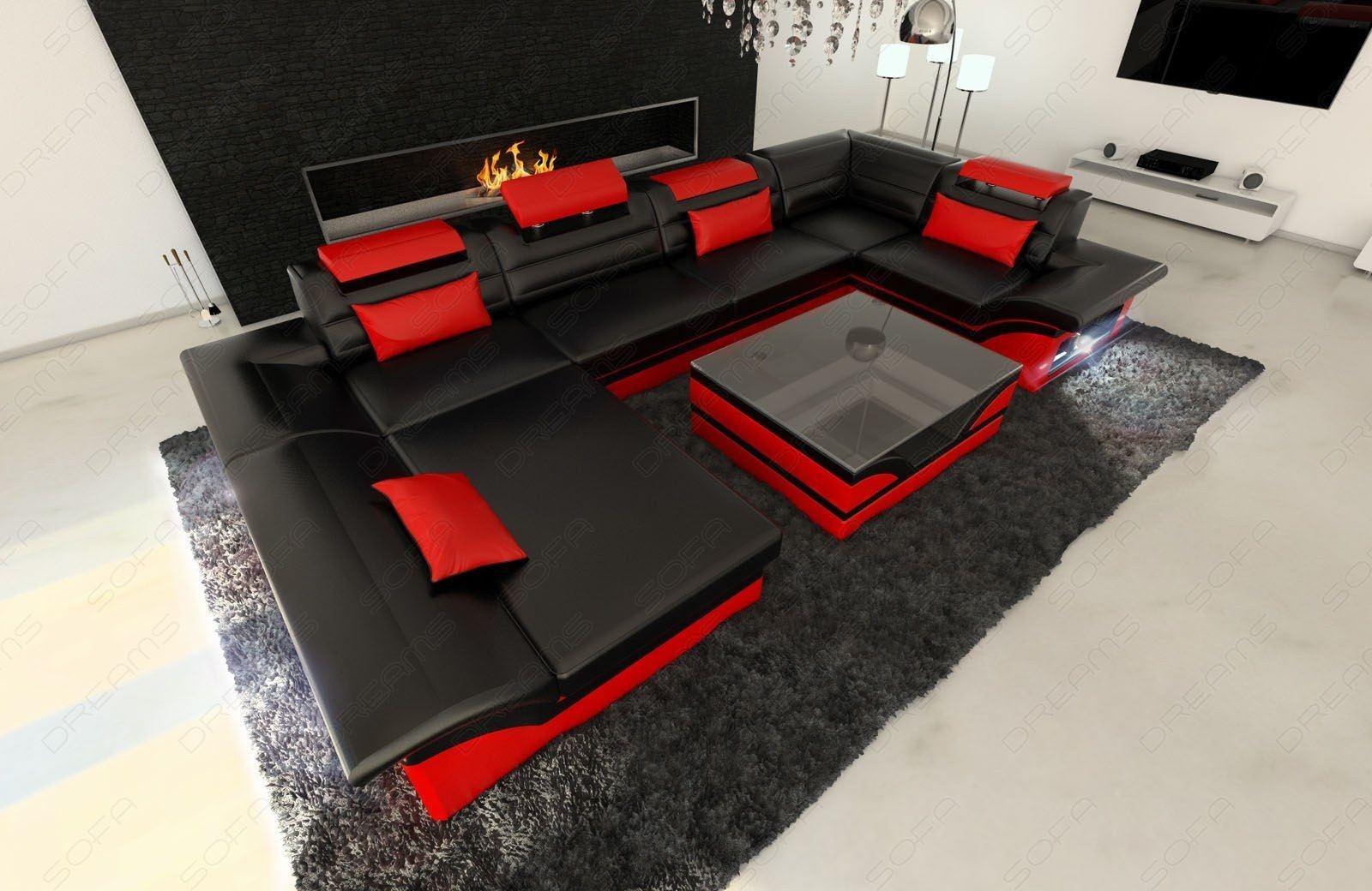 Full Size of Luxus Sofa Design Wohnlandschaft Enzo U Form In Leder Mit Led Beleuchtung Türkis L Schlaffunktion Elektrisch Garnitur 3 Teilig Polyrattan Xxl Groß Grau Tom Sofa Luxus Sofa