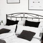 Bett Schwarz Weiß Schlafzimmer Einrichtung Minimal Interior Dekoration Wohnen 140x200 Mit Stauraum Modernes 160x200 Bettkasten 90x200 Inkontinenzeinlagen Bett Bett Schwarz Weiß