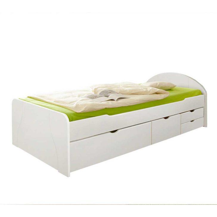 Medium Size of Weies Komfortbett Mit Stauraum Aus Massivholz 90x200 100x200 Bette Badewanne Weißes Bett Betten Kaufen Krankenhaus 200x200 Weiß Außergewöhnliche Leander Bett Bett Weiß 100x200