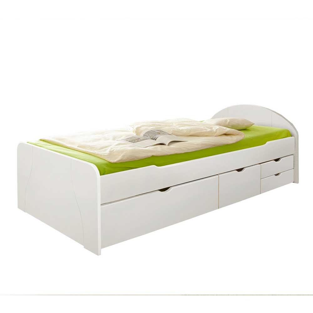 Full Size of Weies Komfortbett Mit Stauraum Aus Massivholz 90x200 100x200 Bette Badewanne Weißes Bett Betten Kaufen Krankenhaus 200x200 Weiß Außergewöhnliche Leander Bett Bett Weiß 100x200