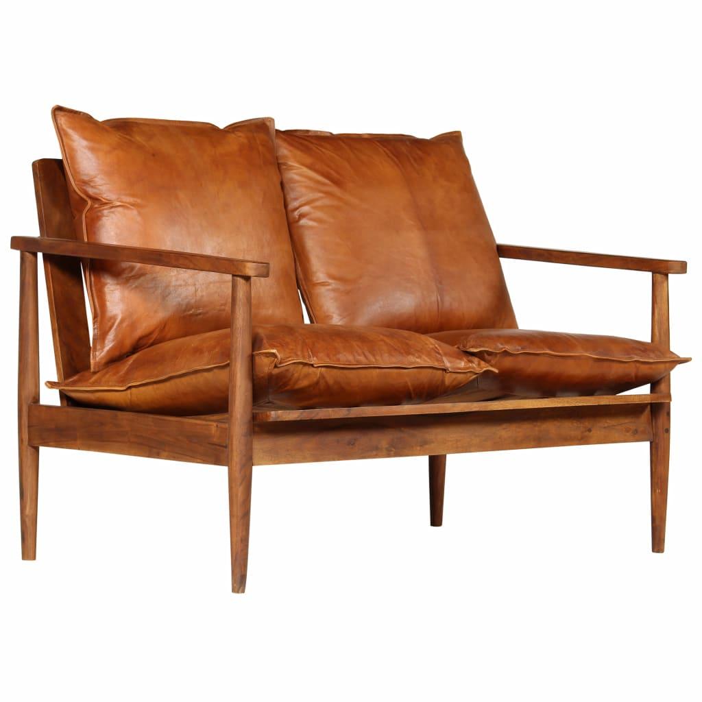 Full Size of Sofa 3 Sitzer Leder Braun   Chesterfield Gebraucht Rustikal Couch Vintage 3 2 1 Set 2 Sitzer Otto Vidaxl Sitzer Mit Akazienholz Bugslock Weiches Inhofer Sofa Sofa Leder Braun